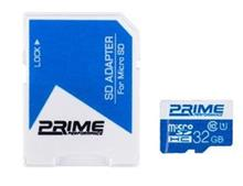Prime UHS-I U1 Class 10 32GB 48MBps microSDHC With Adapter